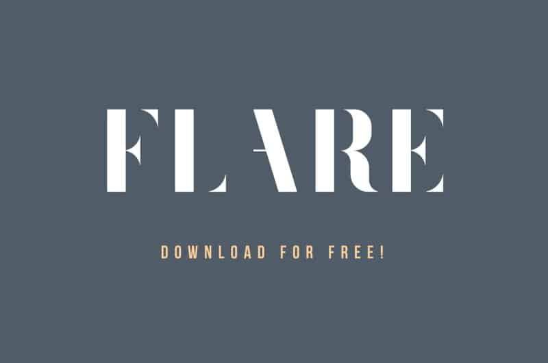 Download Flare font (typeface)