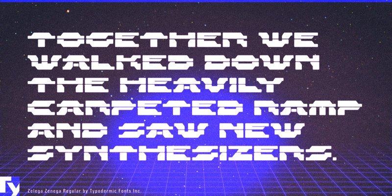 Download Zelega Zenega font (typeface)