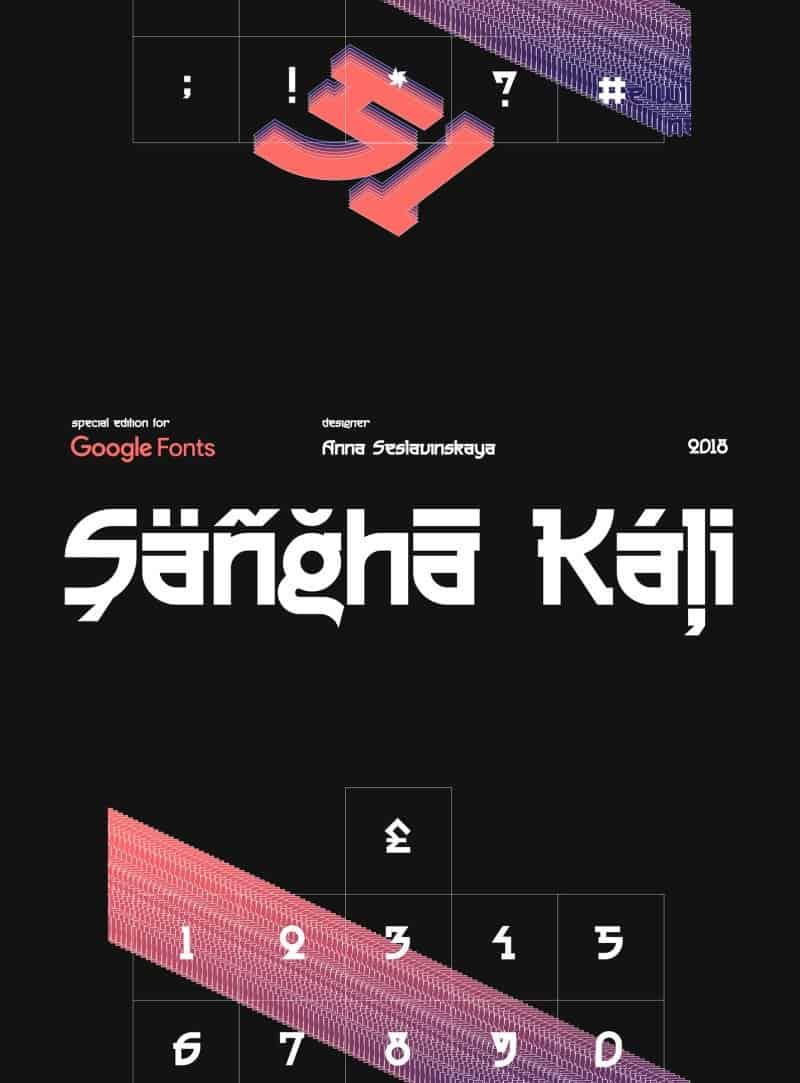 Sangha Kali шрифт скачать бесплатно
