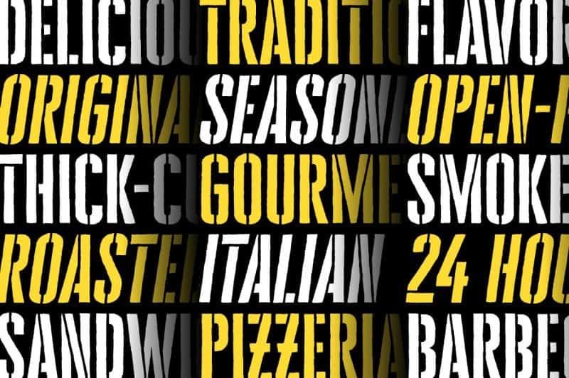 Cheddar Gothic Stencil шрифт скачать бесплатно