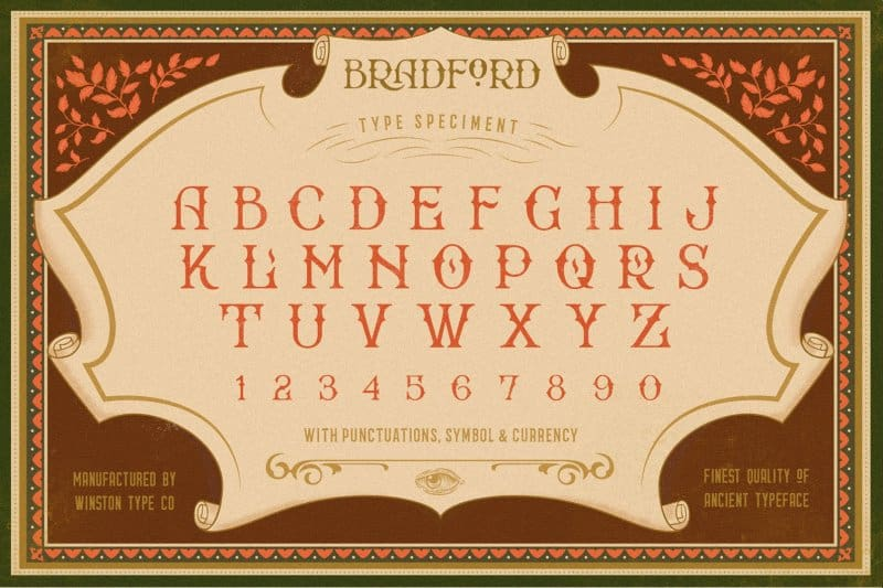 Download Bradford Regular font (typeface)