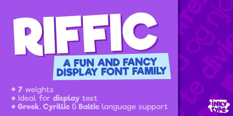 Download Riffic Bold font (typeface)