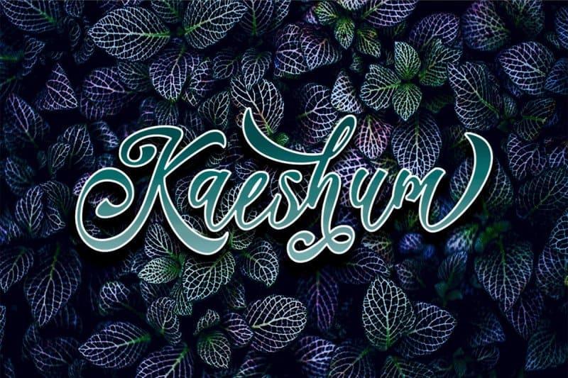Download Kaeshum Script - BOLD font (typeface)