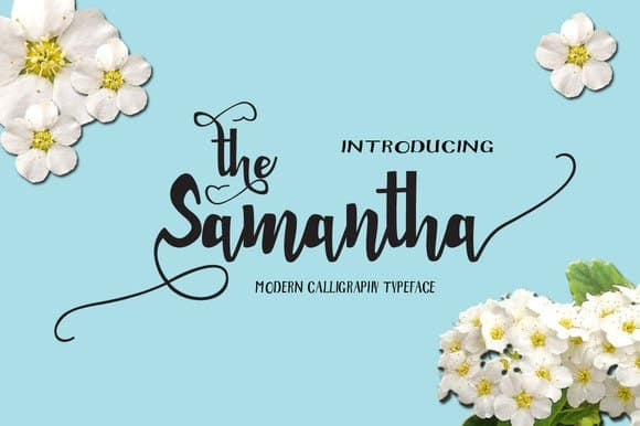 Samantha шрифт скачать бесплатно