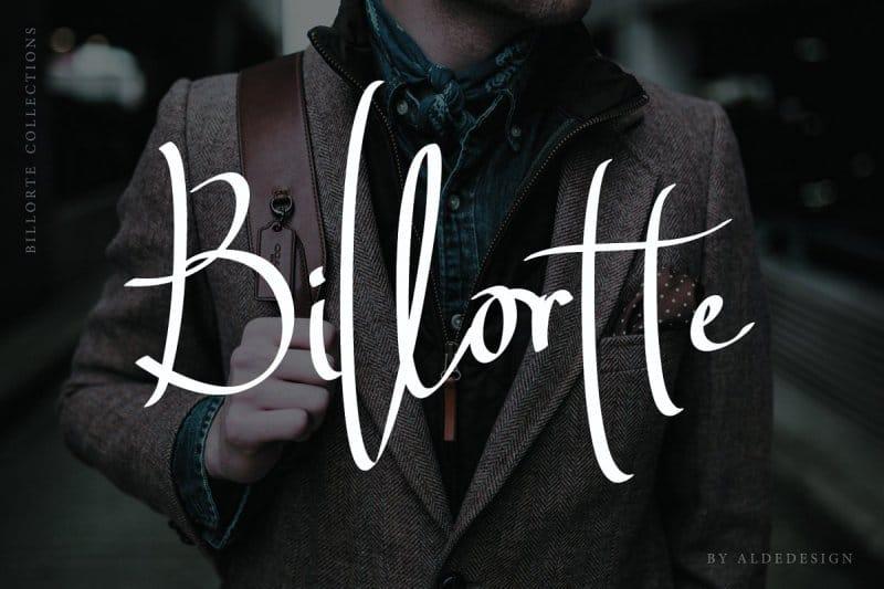 Download Billortte Script font (typeface)