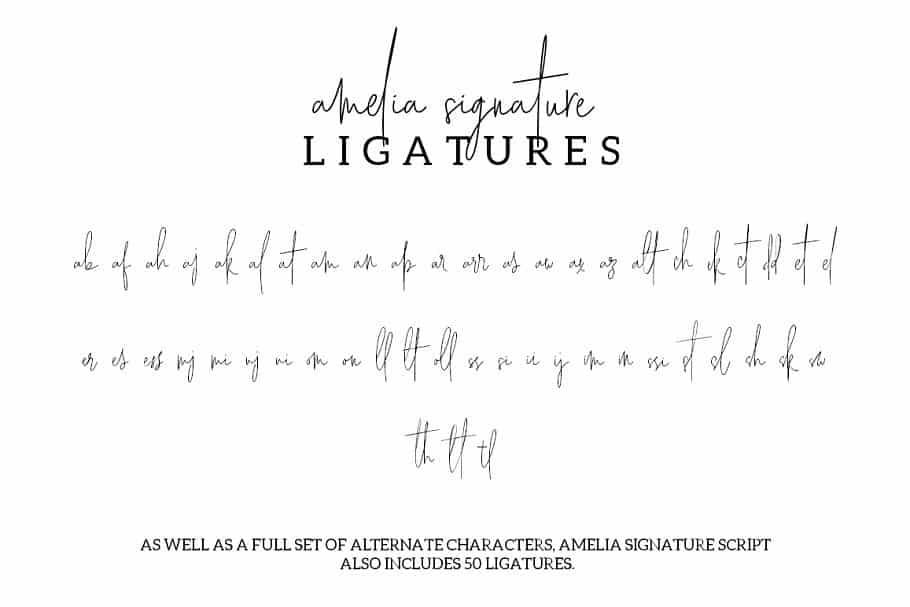 Download Amelia Signature font (typeface)