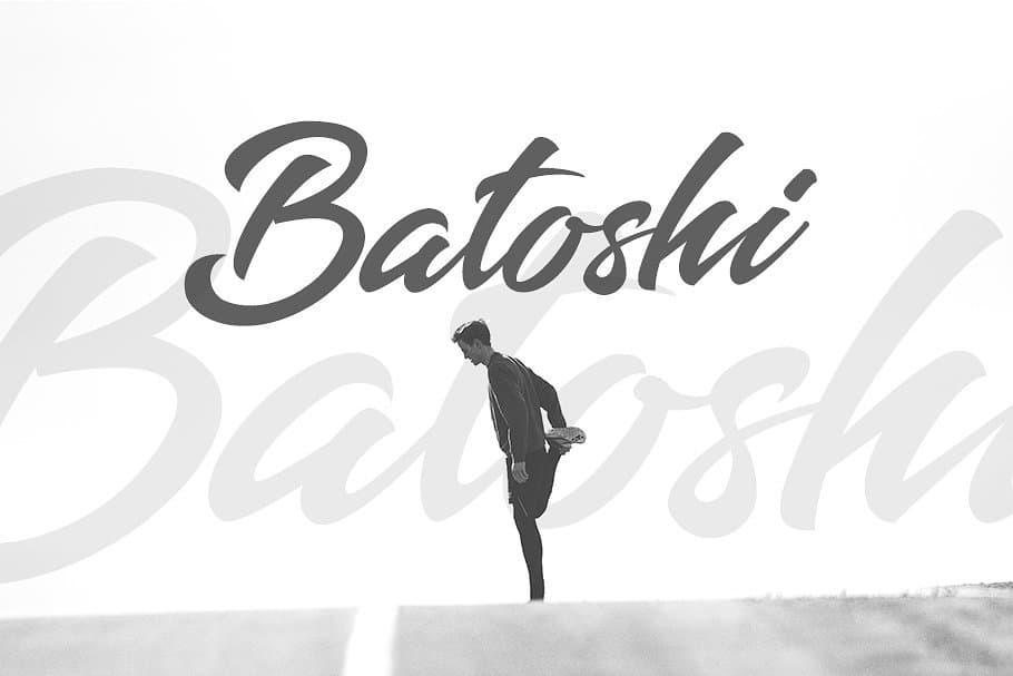 Download Batoshi Typeface font (typeface)