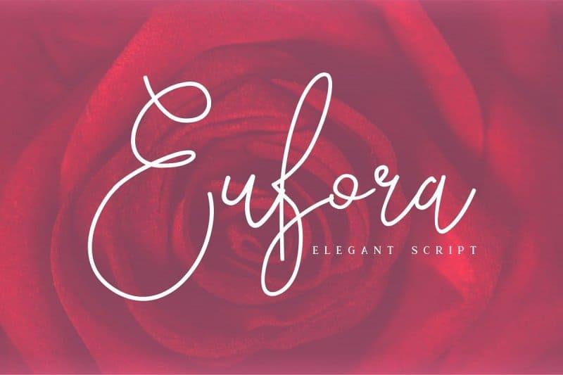 Download Eufora Elegant Script font (typeface)