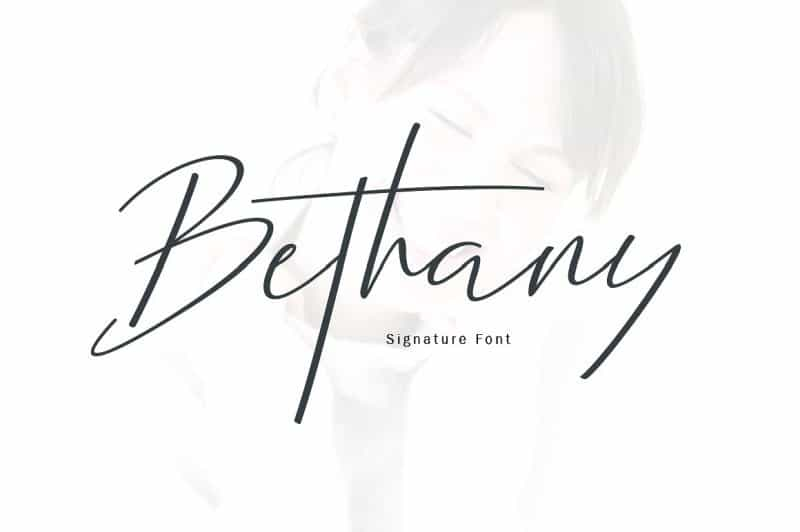 Download New Bethany Script font (typeface)