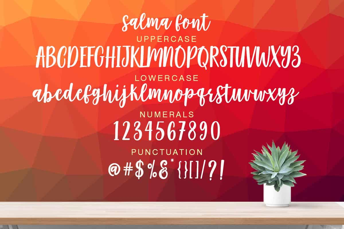 Download Salma Desire font (typeface)