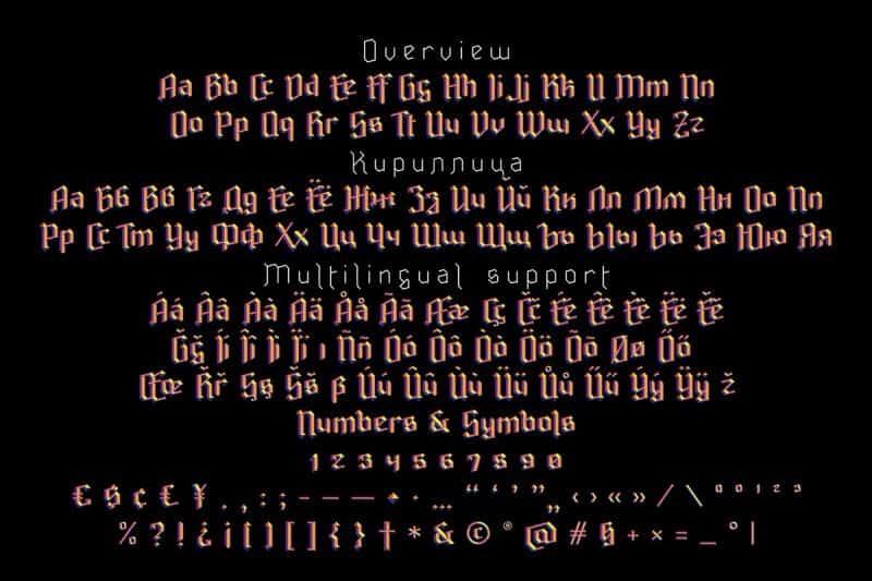 Ravenholm Inline шрифт скачать бесплатно