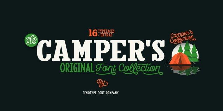 Download Camper Font Family font (typeface)