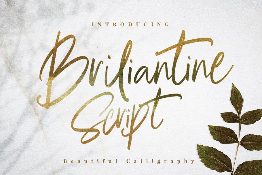 Briliantine Script шрифт скачать бесплатно