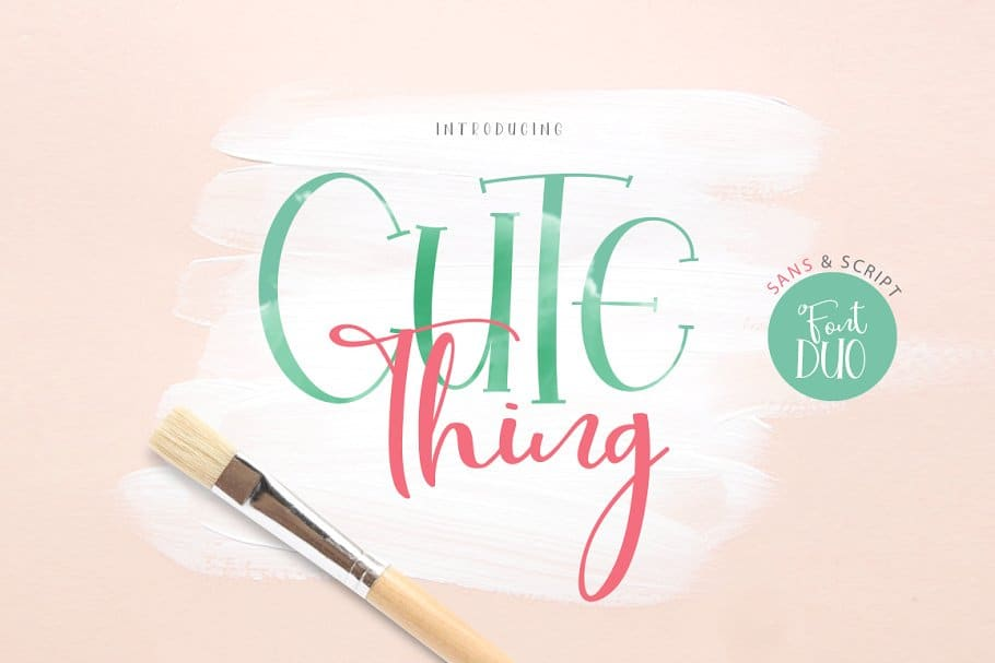 Download Cute Thing font (typeface)