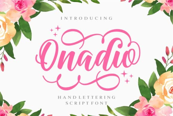 Download Onadio Script font (typeface)