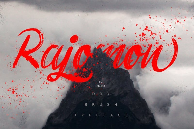 Download Rajomon font (typeface)