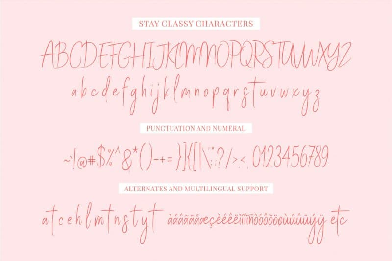 Download Stay Classy font (typeface)