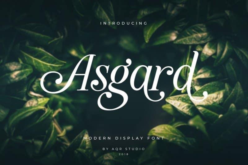 Download Asgard Display font (typeface)
