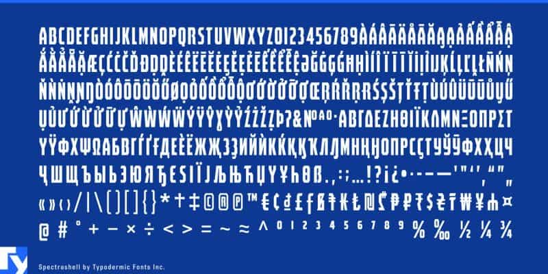 Download Spectrashell  font (typeface)
