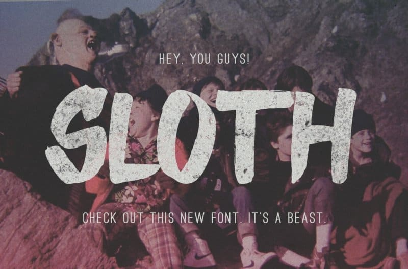 Download Sloth font (typeface)