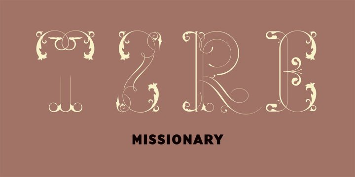 Download Missionary font (typeface)