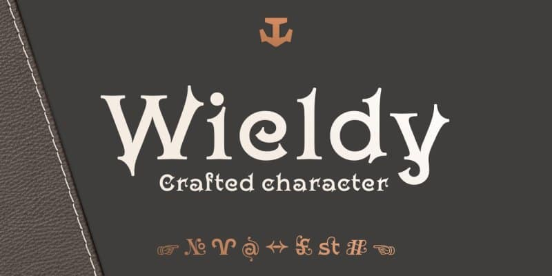 Download Wieldy Font font (typeface)