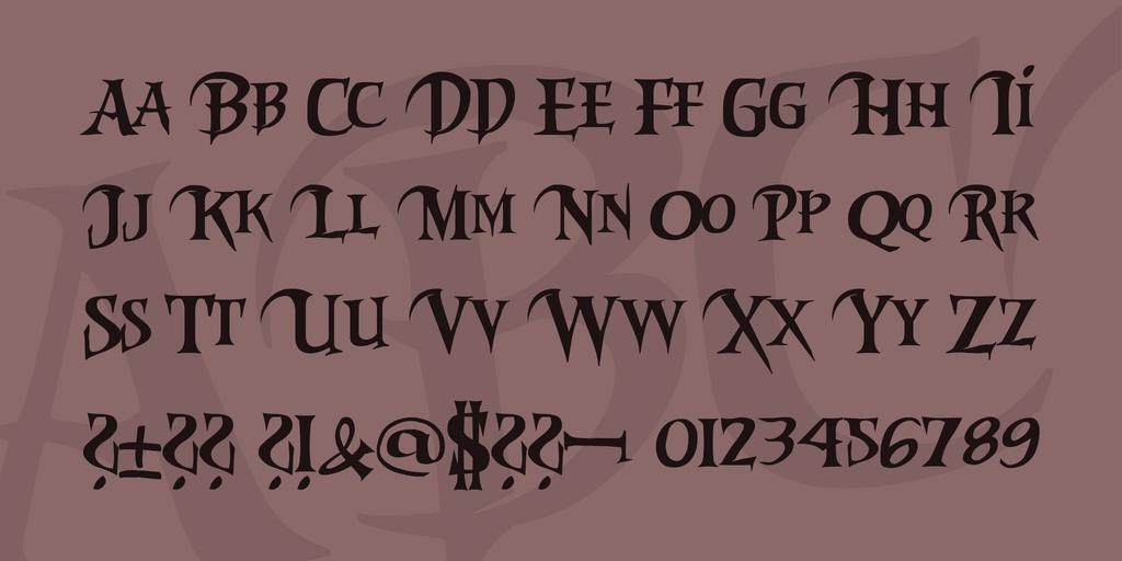 Download Riky Vampdator Normal font (typeface)
