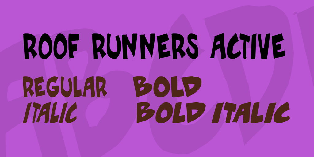 Download Roof runners active font (typeface)
