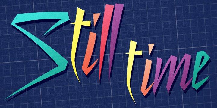 Still Time шрифт скачать бесплатно
