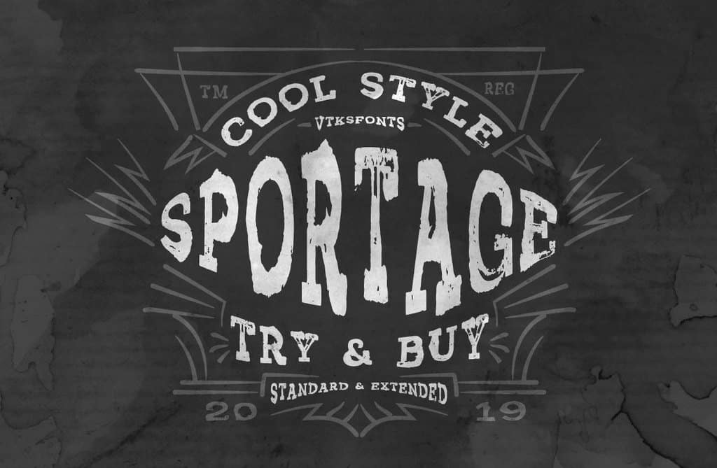 Download Vtks Sportage font (typeface)