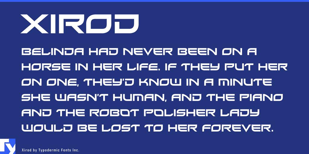 Xirod шрифт скачать бесплатно