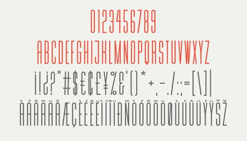 Download MD Tall font (typeface)