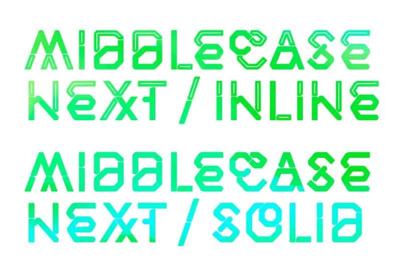 Download Middlecase Next font (typeface)