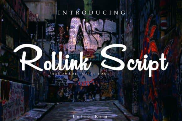 Download Rollink font (typeface)