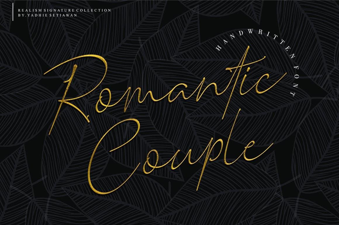 Download Romantic Couple font (typeface)