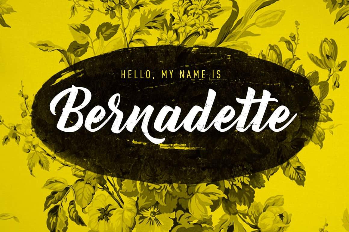 Download Bernadette font (typeface)