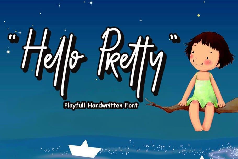 Download Hello Pretty font (typeface)