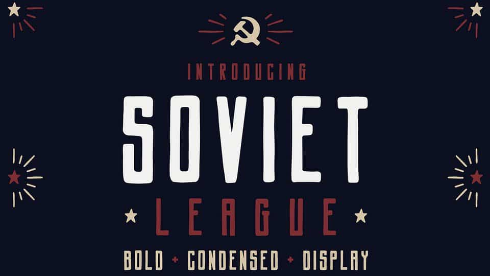 Download Soviet League font (typeface)