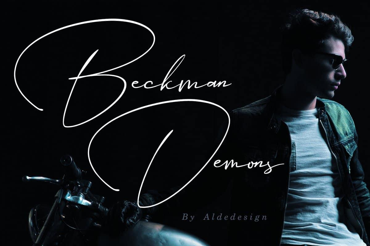 Download Beckman Demons font (typeface)