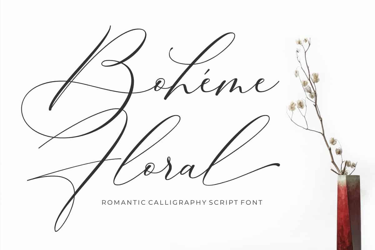 Download Boheme Floral font (typeface)