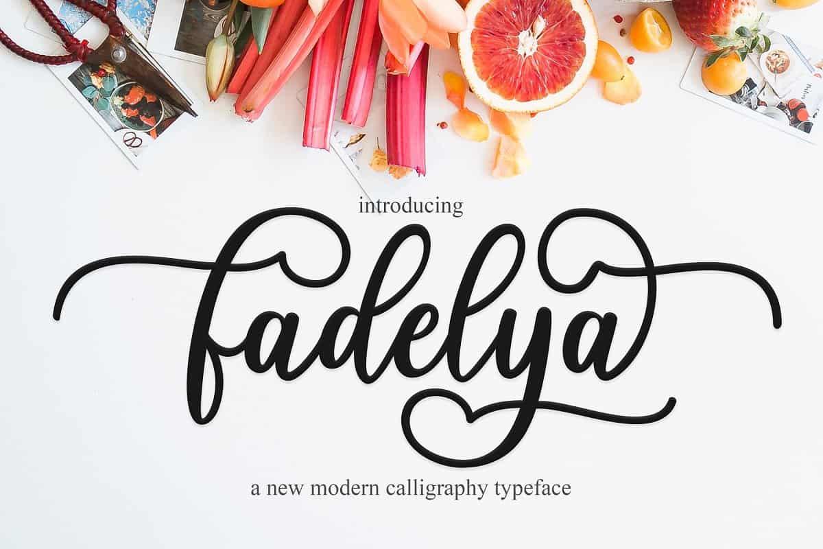 Download Fadelya font (typeface)