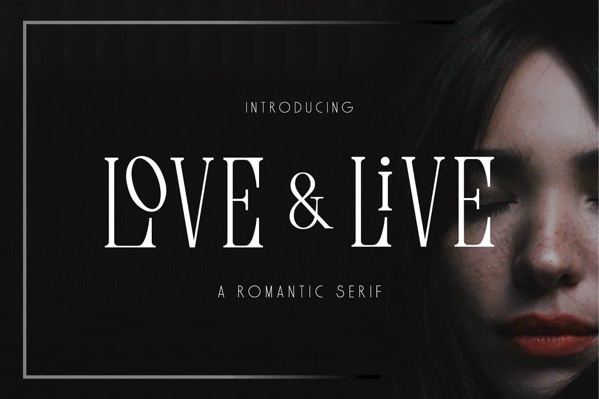Download Love & Live font (typeface)