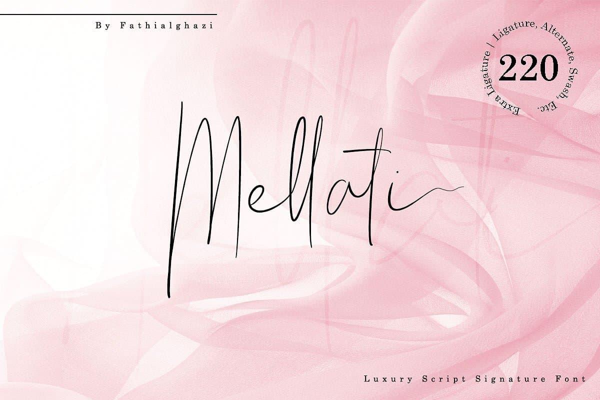 Download Mellati font (typeface)