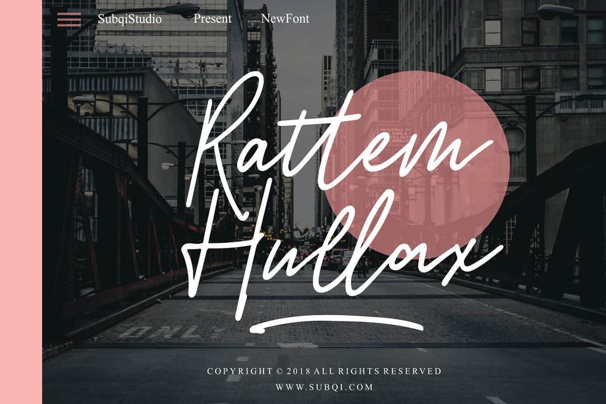 Download Rattem Hullax font (typeface)