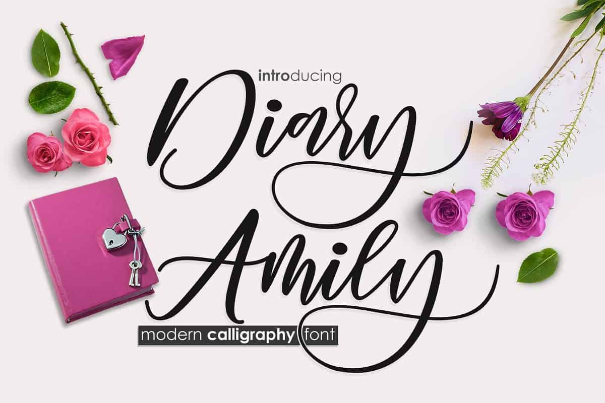 Download Diary Amily font (typeface)