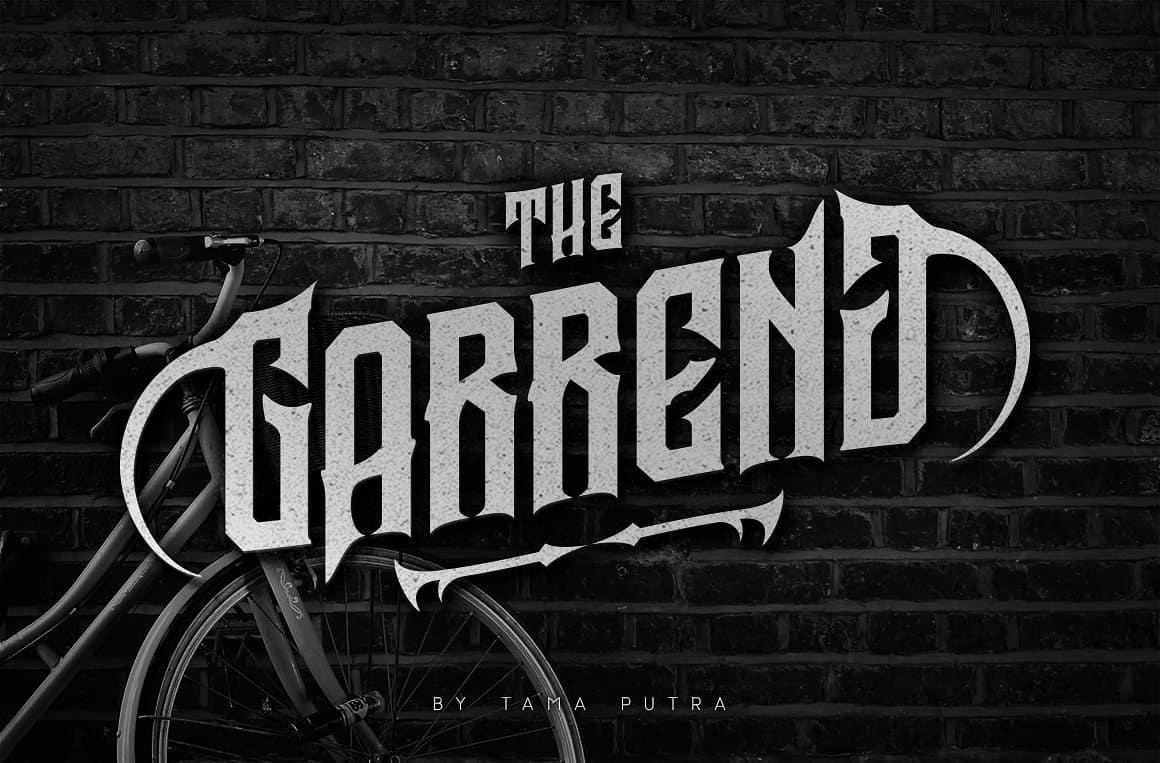 Download Garreng font (typeface)
