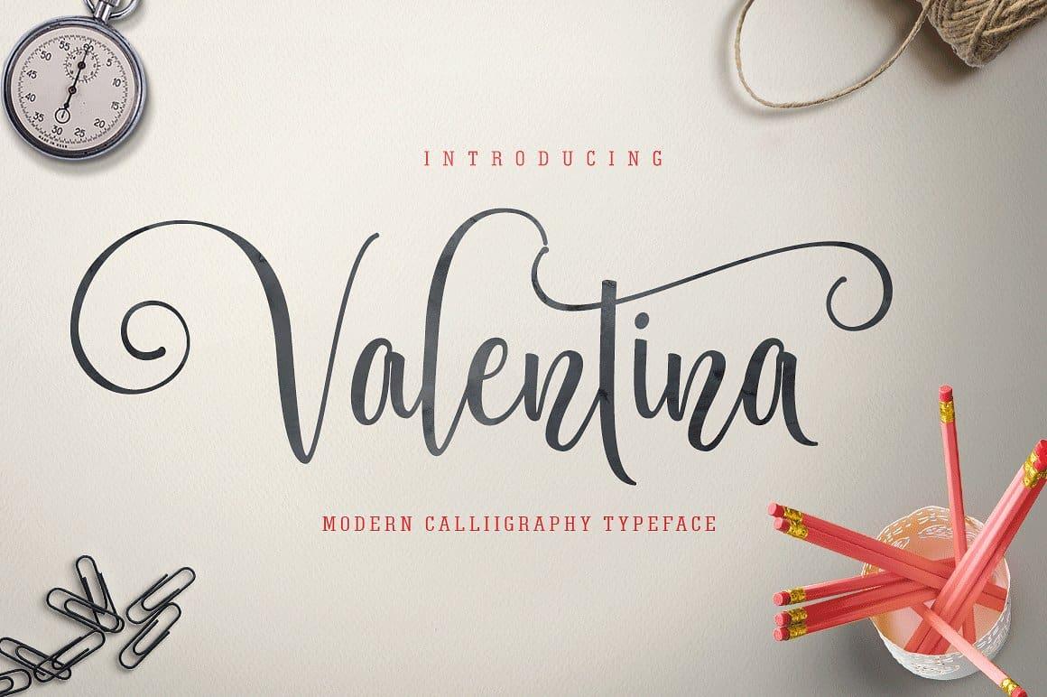 Download Valentina font (typeface)