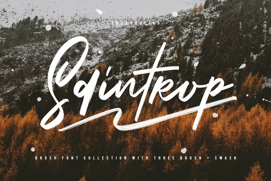 Download Saintrop Brush Font Collection font (typeface)