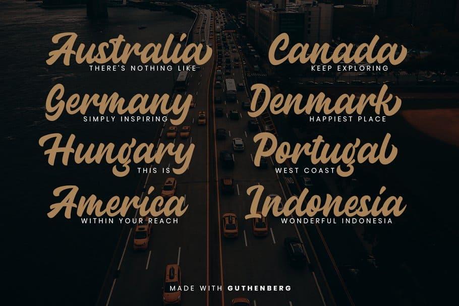 Download Guthenberg Bold Script font (typeface)