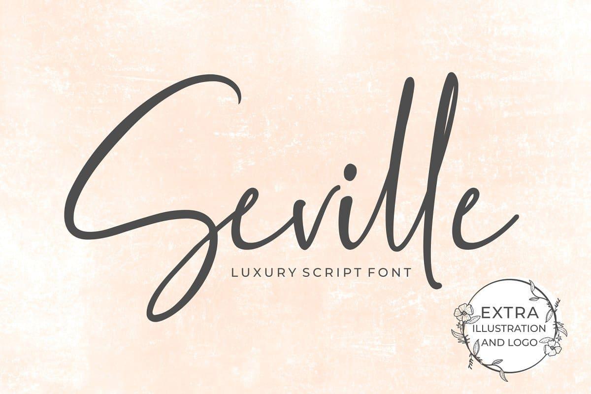 Download Seville Script Fonts font (typeface)